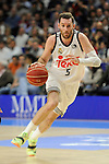 Real Madrid´s Rudy Fernandez during 2014-15 Liga Endesa match between Real Madrid and Unicaja at Palacio de los Deportes stadium in Madrid, Spain. April 30, 2015. (ALTERPHOTOS/Luis Fernandez)