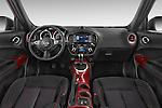 Stock photo of straight dashboard view of 2017 Nissan JUKE SV 5 Door SUV Dashboard