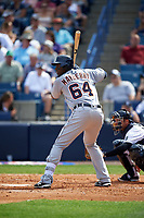 Detroit Tigers first baseman John Mayberry Jr. (64) at bat during a Spring Training game against the New York Yankees on March 2, 2016 at George M. Steinbrenner Field in Tampa, Florida.  New York defeated Detroit 10-9.  (Mike Janes/Four Seam Images)