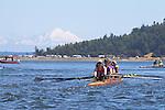 Port Townsend, Rat Island Regatta, Riverside; rowers, racing, Sound Rowers, Rat Island Rowing Club, Puget Sound, Olympic Peninsula, Washington State, water sports, rowing, kayaking, competition,