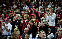 SPOKANE, WA - MARCH 28, 2011: Stanford Fans, Stanford Women's Basketball vs Gonzaga, NCAA West Regional Finals at the Spokane Arena on March 28, 2011.