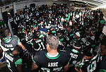 DENTON, TX  JANUARY 1:  North Texas Mean Green wait in the locker room before the start of the game against the UNLV Rebels at the Heart of Dallas Bowl at Cotton Bowl Stadium in Dallas on January 1, 2014 in Dallas, TX.  Photo by Rick Yeatts North Texas won 36-14 over UNLV.