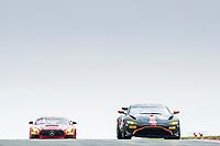 Matt Topham & Darren Turner, Aston Martin Vantage AMR GT4, Newbridge Motorsport  from Dave Whitmore & Jake Giddings, Mercedes AMG GT4, Car Gods with Ciceley Motorsport during the British GT & F3 Championship on 10th July 2021