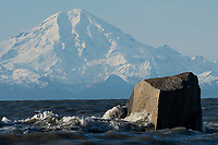 Mount Redoubt, across Cook Inlet from Clam Gulch, Alaska.