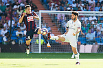 "Real Madrid's player Francisco Roman ""Isco"" and Eibar FC's player Ruben Peña Jimenez during a match of La Liga Santander at Santiago Bernabeu Stadium in Madrid. October 02, Spain. 2016. (ALTERPHOTOS/BorjaB.Hojas)"