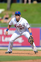 New York Mets first baseman Cole Frenzel #85 during an exhibition game against the Michigan Wolverines at Tradition Field on February 24, 2013 in St. Lucie, Florida.  New York defeated Michigan 5-2.  (Mike Janes/Four Seam Images)