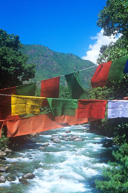 Prayer Flags, Wangchu River, Bhutan
