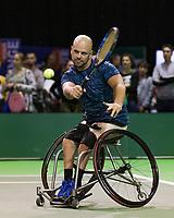 Rotterdam, The Netherlands, 14 Februari 2019, ABNAMRO World Tennis Tournament, Ahoy, first round wheelchair singles: Stefan Olsson (SWE),<br /> Photo: www.tennisimages.com/Henk Koster