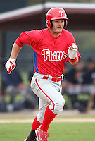 March 25, 2010:  Second Baseman Jeremy Barnes of the Philadelphia Phillies organization during a Spring Training game at the Carpenter Complex in Clearwater, FL.  Photo By Mike Janes/Four Seam Images