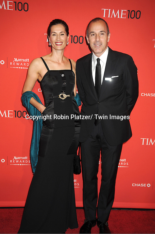 Annette and Matt Lauer attends The Time 100 Most Influential People in the World Gala on April 24, 2012 at Frederick P Rose Hall at Lincoln Center in New York City. .