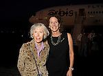 Olive Mccollum Jenney and Melissa McCollum Moss at a welcome reception for the Orbis Flying Eye Hospital at Ellington Airport Tuesday Oct. 20,2015.(Dave Rossman photo)