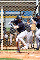 FCL Yankees Raimfer Salinas (31) bats during a game against the FCL Tigers West on July 31, 2021 at Tigertown in Lakeland, Florida.  (Mike Janes/Four Seam Images)