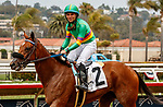 DEL MAR, CA  AUGUST 21: Joel Rosario is all smiles after he pilots #2 Ain't Easy to break his maiden on August 21, 2021 at Del Mar Thoroughbred Club in Del Mar, CA.  (Photo by Casey Phillips/Eclipse Sportswire/CSM)