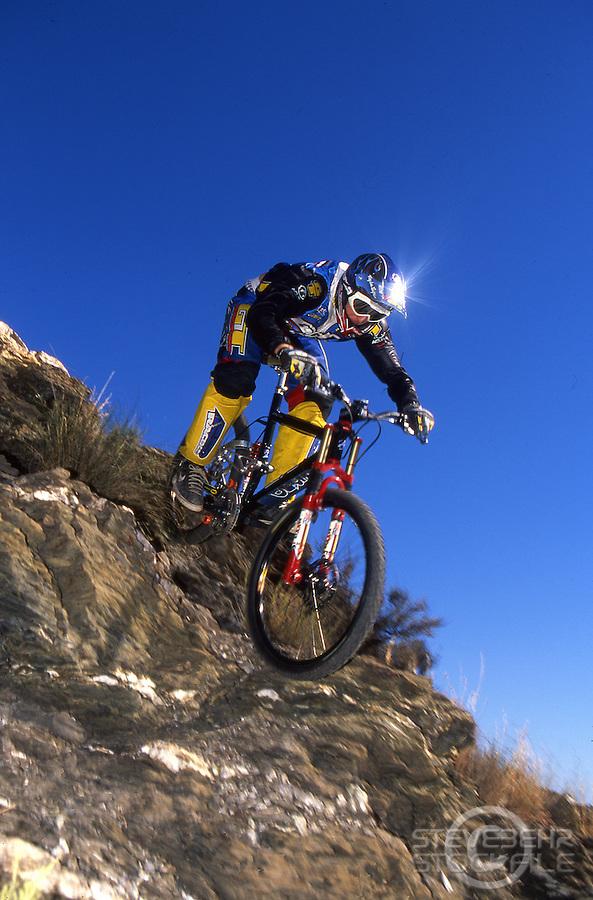 Steve Peat riding GT Lobo downhill .nr Mojacar , Spain late 1990's.pic copyright Steve Behr / Stockfile.20101-43001-02a