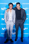 Oscar Casas and Mario Casas attends to blue carpet of presentation of new schedule of Movistar+ at Queen Sofia Museum in Madrid, Spain. September 12, 2018.  (ALTERPHOTOS/Borja B.Hojas)