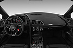 Stock photo of straight dashboard view of 2017 Audi R8 quattro 2 Door Coupe