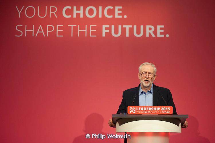 Jeremy Corbyn wins Labour Party leadership election Westminster London