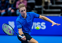 Alphen aan den Rijn, Netherlands, December 15, 2018, Tennispark Nieuwe Sloot, Ned. Loterij NK Tennis, Semifinal men: Jelle Sels (NED)<br /> Photo: Tennisimages/Henk Koster