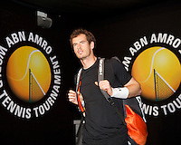 Februari 13, 2015, Netherlands, Rotterdam, Ahoy, ABN AMRO World Tennis Tournament, Andy Murray (GBR)<br /> Photo: Tennisimages/Henk Koster