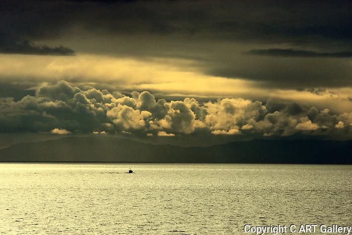 Heading towards Catalina after a storm, Corona del Mar, CA.