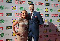 19/05/2015 <br /> Maria Scannell & Mark Whyte<br /> during the Irish mirror pride of Ireland awards at the mansion house, Dublin.<br /> Photo: gareth chaney Collins