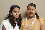 Two Gabrieleno/Tongva sisters, part of the Tongva Nation Dancers at the Aquarium of the Pacific in Long Beach