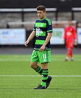 Pictured: Daniel James of Swansea Saturday 11 July 2015<br /> Re: Merthyr Town FC v Swansea City U21 at the Penydarren Park in Merthyr Tydfil, south Wales, UK.