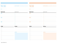 TODO day planner <br /> Include 2 days plan<br /> for printing at US paper size (8.5X11 inch)<br /> Can be printed at home