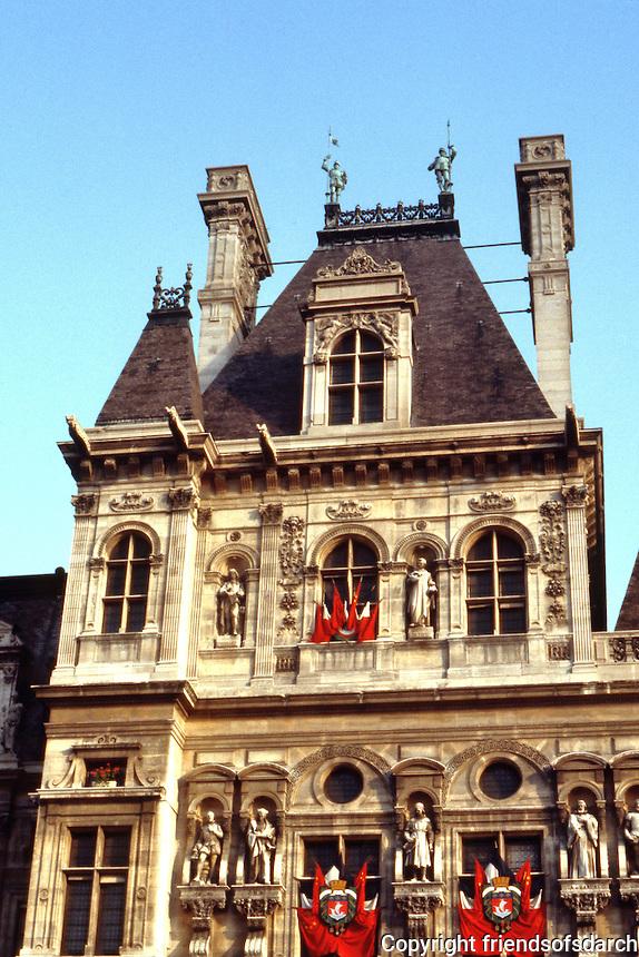 Paris: Hotel de Ville--detail of facade.