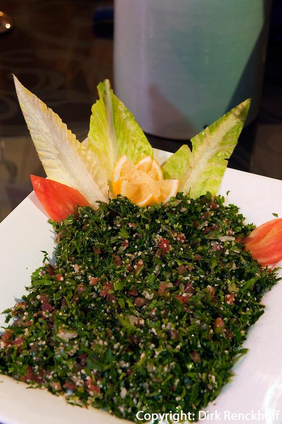 Vereinigte arabische Emirate (VAE), Dubai, arabisches Essen: Tabouleh