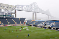 The USWNT scrimmages during practice at PPL Park in Chester, PA.