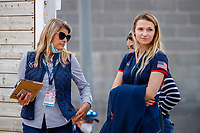 USA-Lillie Keenan watches during the Horse Inspection. 2021 ESP-Longines FEI Jumping Nations Cup Final. Real Club de Polo, Barcelona. Spain. Thursday 30 September 2021. Copyright Photo: Libby Law Photography
