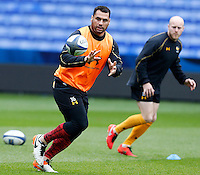 Photo: Richard Lane/Richard Lane Photography. Wasps Captains Run ahead of their game against Saracens in the European Champions Cup Semi Final at the Madejski Stadium. 21/04/2016. George Smith.