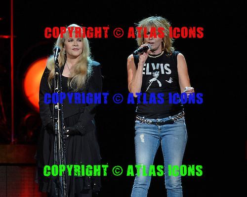 SUNRISE FL - NOVEMBER 04: Stevie Nicks and Chrissie Hynde perform at The BB&T Center on November 4, 2016 in Sunrise, Florida. Photo by Larry Marano © 2016