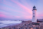 Sunset at Scituate Light in Scituate, MA, USA