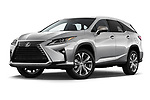 Stock pictures of low aggressive front three quarter view of 2019 Lexus RX 350L-4x2 5 Door SUV Low Aggressive