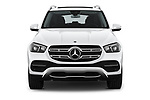 Car photography straight front view of a 2020 Mercedes Benz GLE 350-d-4MATIC 5 Door SUV Front View