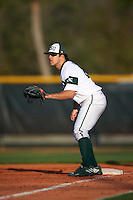 Chicago State Cougars first baseman Rick Salazar (22) during a game against the Georgetown Hoyas on March 3, 2017 at North Charlotte Regional Park in Port Charlotte, Florida.  Georgetown defeated Chicago State 11-0.  (Mike Janes/Four Seam Images)