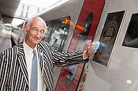 Pictured at the 175th Anniversary of Derby's Railways train naming event is Paul Atterbury of the Antiques Roadshow, who are currently filming in Derby