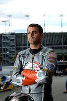 Oct. 31, 2008; Las Vegas, NV, USA: NHRA pro stock motorcycle rider Eddie Krawiec during qualifying for the Las Vegas Nationals at The Strip in Las Vegas. Mandatory Credit: Mark J. Rebilas-