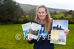Katrin Pietzonka Glenflesk with her 2021 Calendar and two  books she has released recently