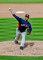 27 February 2019: Houston Astros pitcher Bryan Abreu on the mound in pre-season action against the Washington Nationals at the Ballpark of the Palm Beaches in West Palm Beach, Florida. The Nationals defeated the Astros 14-8 in their Spring Training Grapefruit League matchup. Mandatory Credit: Ed Wolfstein Photo *** RAW (NEF) Image File Available ***
