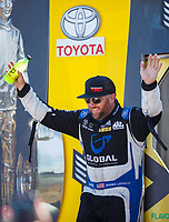 Jul 30, 2017; Sonoma, CA, USA; NHRA top fuel driver Shawn Langdon during the Sonoma Nationals at Sonoma Raceway. Mandatory Credit: Mark J. Rebilas-USA TODAY Sports