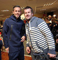 Pictured: Gylfi Sigurdsson and Rhodri Griffith Tuesday 06 December 2016<br />