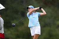 CHAPEL HILL, NC - OCTOBER 13: Kayla Smith of the University of North Carolina tees off at UNC Finley Golf Course on October 13, 2019 in Chapel Hill, North Carolina.