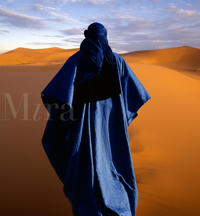 Nomad in the arid desert.