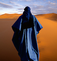 Nomad in the arid desert.