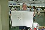 24-Jul-10: To celebrate the return of Rachel Alexandra, fans could visit a sign making table in the grandstand sponsored by ReRun Adopt A Thoroughbred.