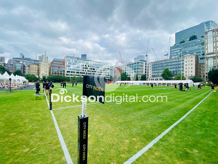 Thursday 9th September 202Thursday 9th September 20218 <br /> <br /> General view during the pre-season friendly between Saracens and Ulster Rugby at the Honourable Artillery Company Grounds, Armoury House, London, England. Photo by John Dickson/Dicksondigital