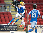St Johnstone v Ross County…24.10.17…  McDiarmid Park…  SPFL<br />Graham Cummins and Andrew Davies<br />Picture by Graeme Hart. <br />Copyright Perthshire Picture Agency<br />Tel: 01738 623350  Mobile: 07990 594431